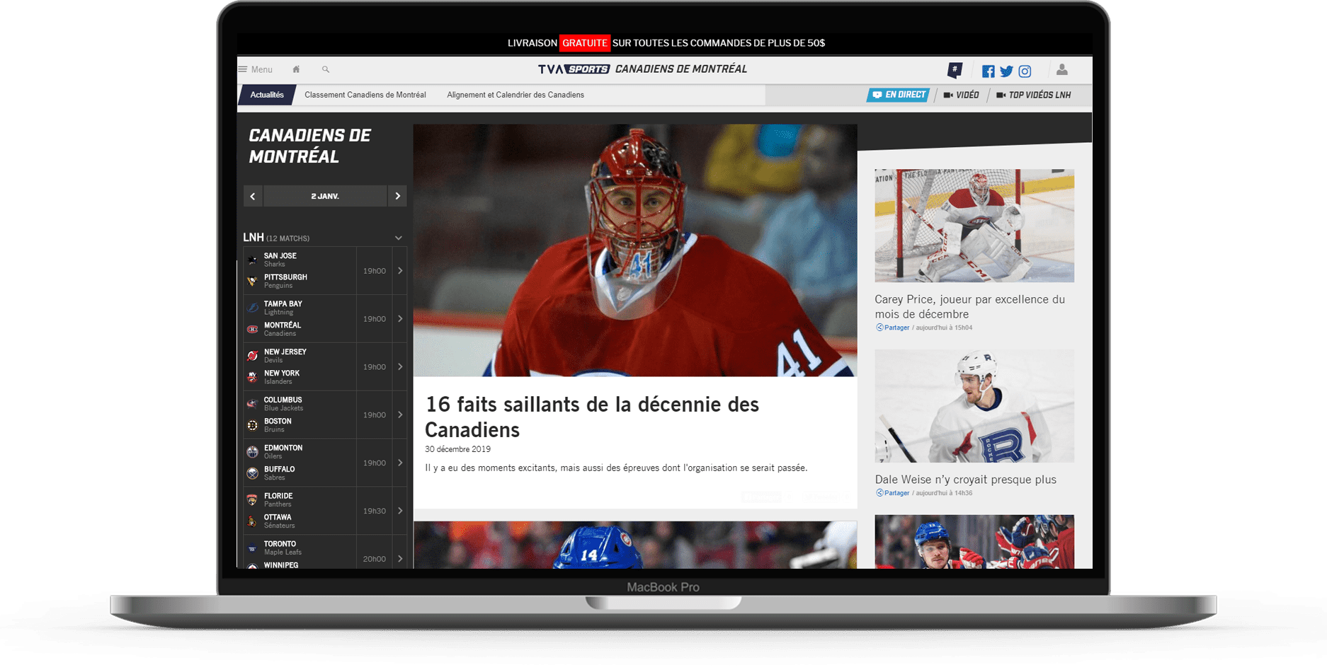 first page tva sport mockup