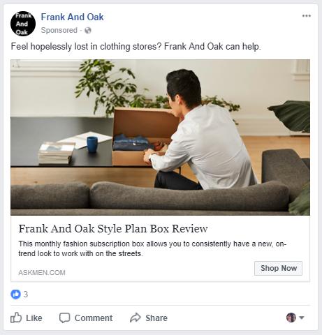frank and oak facebook
