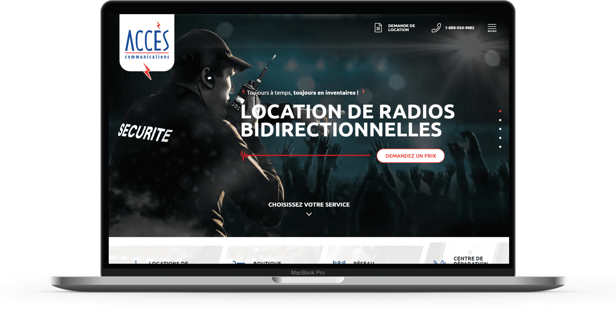 background acces radio site
