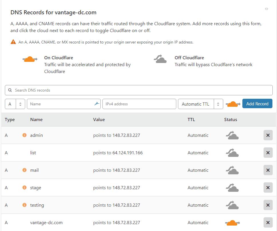 Création compte Cloudflare