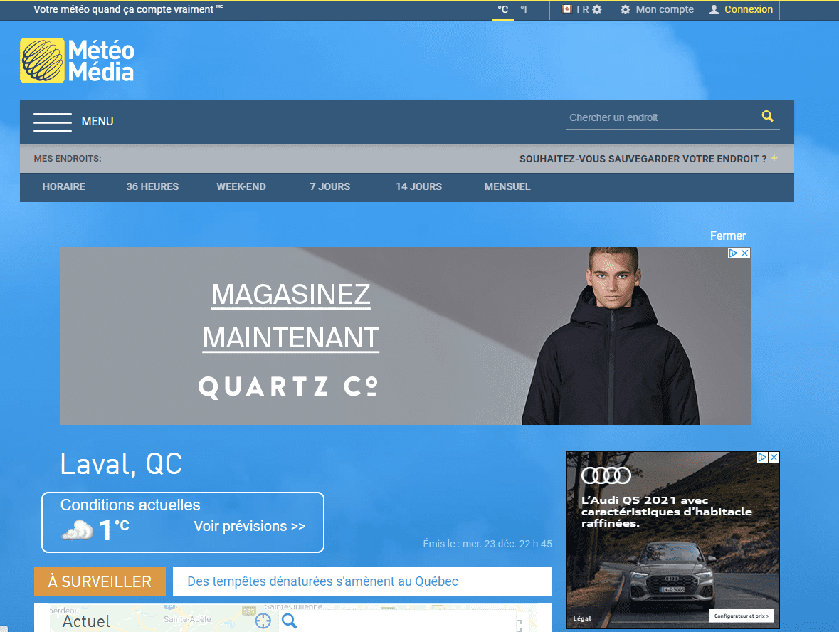 Publicites display en ligne