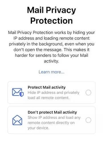 iOS 15 aperçu mail privacy
