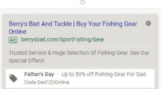 exemple d'extension de promotion Google Ads